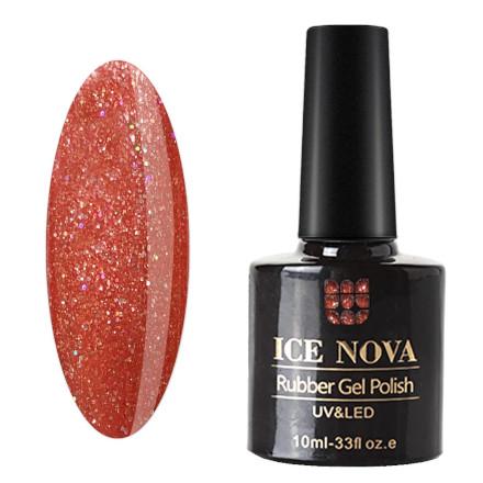 Купить Ice Nova, Гель-лак каучуковый №009, Коралловый