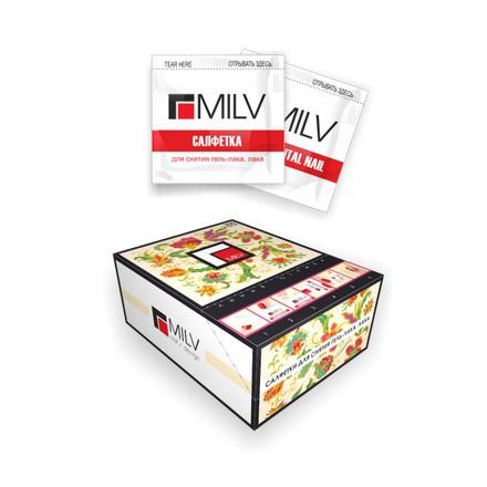 Milv, Салфетки с пропиткой для снятия гель-лака и лака MILV Rush