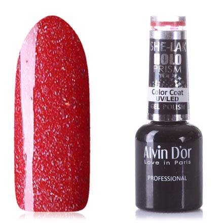 Купить Alvin D'or, Гель-лак HoloPrism №7214, Красный