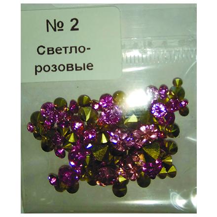 Купить KrasotkaPro, Стразы конусные, микс №2, светло-розовые