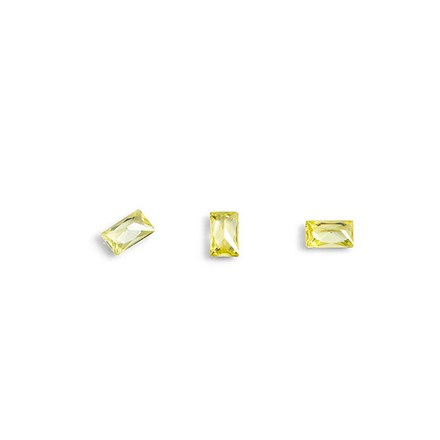 Купить TNL, Кристаллы «Багет» №3, желтые, 10 шт., TNL Professional