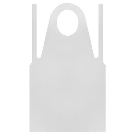 KrasotkaPro, Фартук полиэтиленовый серебристый, 120х70 см, 50 шт.