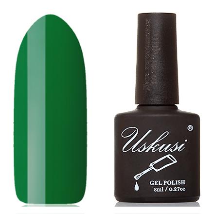 Uskusi, Гель-лак №048Uskusi<br>Гель-лак (8 мл) насыщенный зеленый, без перламутра и блесток, плотный.