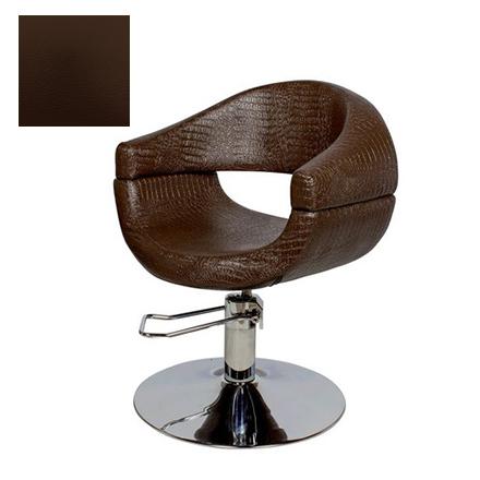 Купить Мэдисон, Кресло парикмахерское «МД-108» гидравлическое, хромированное, коричневое