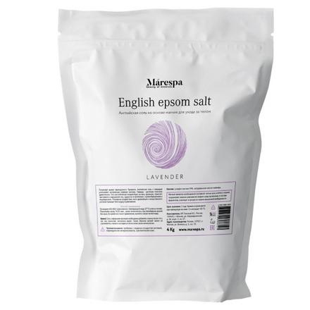 Купить Marespa, Соль для ванн English Epsom «Лаванда»?, 4 кг