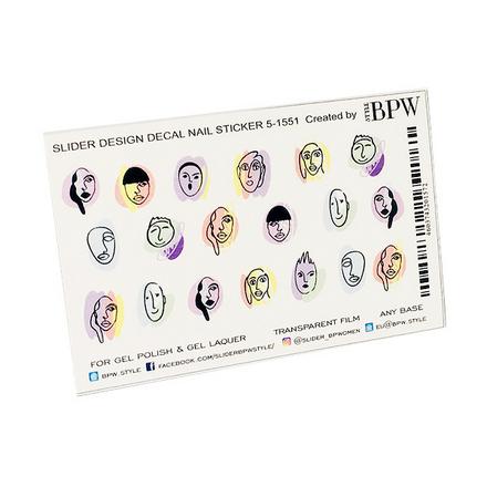 Купить BPW.style, Слайдер-дизайн «Лица на цветном фоне» №5-1551