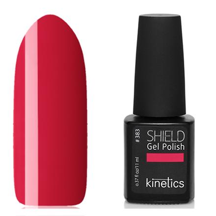 Kinetics, Гель-лак Shield №383, Nothing but loveKinetics<br>Гель-лак (11 мл) клубнично-красный, без перламутра и блесток, плотный.