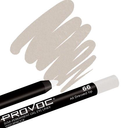 Provoc, Gel Eye Liner 66 AII Dressed Up, цвет шампанского карандаш для глаз provoc semi permanent gel eye liner 90 цвет 90 limo service variant hex name 1c1c1c