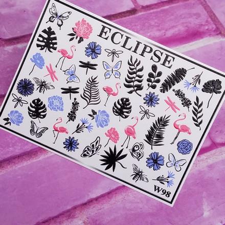 Купить Eclipse, Слайдер-дизайн для ногтей W №98