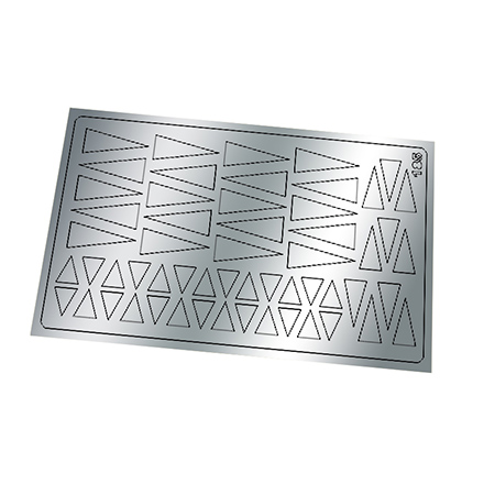 Freedecor, Металлизированные наклейки №185, серебро фото