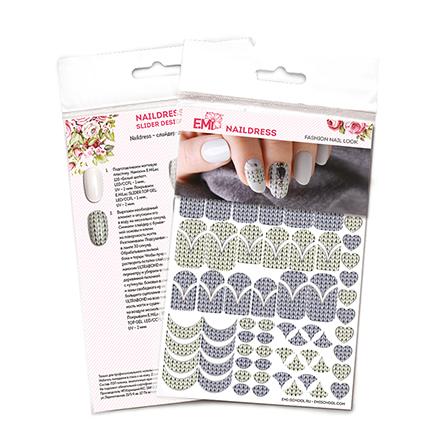Купить E.Mi, Слайдер-дизайн Naildress «Вязаный маникюр»