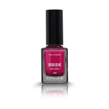 Zinger, Лак для ногтей Bride, цвет Red carpet