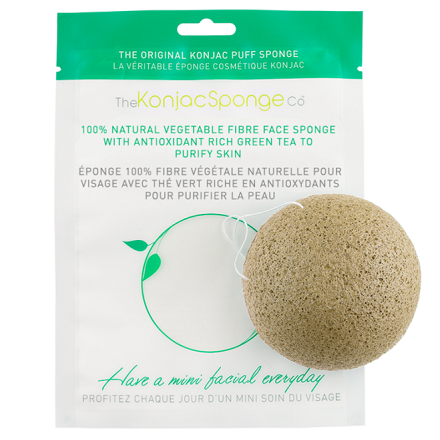 The Konjac Sponge Company, Спонж Facial Puff Konjac Sponge Green Tea недорого