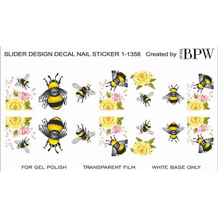 BPW.Style, Слайдер-дизайн Пчелка с цветами №1-1358