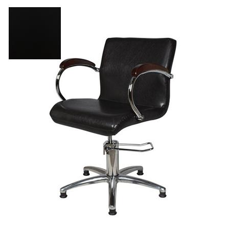 Купить Мэдисон, Кресло парикмахерское «Лорд-2» гидравлическое, хромированное, черное