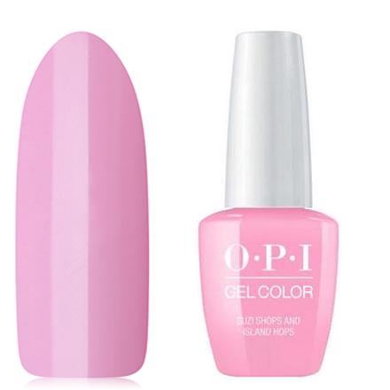 OPI GelColor, Гель-лак Suzi Shops &amp; Island Hops H71Gel Color OPI<br>Гель-лак (15 мл) светло-розовый, без блесток и перламутра, плотный.<br><br>Цвет: Розовый<br>Объем мл: 15.00