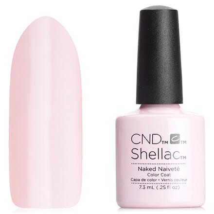 CND, цвет Naked NaiveteCND<br>(7,3 мл) нежно-персиковый, без блесток и перламутра, плотный.