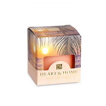 Heart&amp;Home, Мини-свеча «Райский закат», 56 гАроматические свечи<br>Сочетание пряностей, тропических фруктов и ванили — аромат, способный преобразить привычное пространство.<br>
