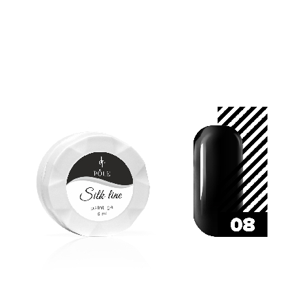 POLE POLE, Гель-краска Silk line №08, черная