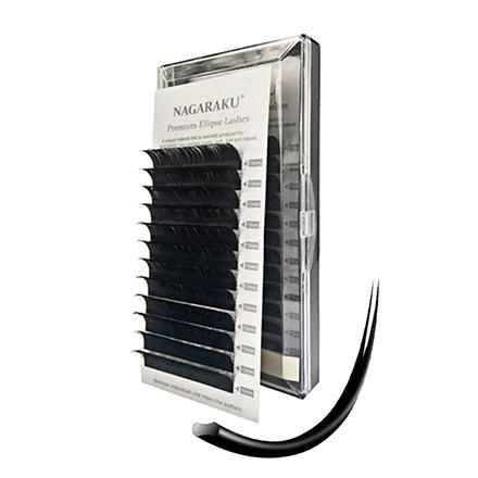 NAGARAKU, Ресницы на ленте Premium Ellips, 10/0,15 мм, D-изгиб