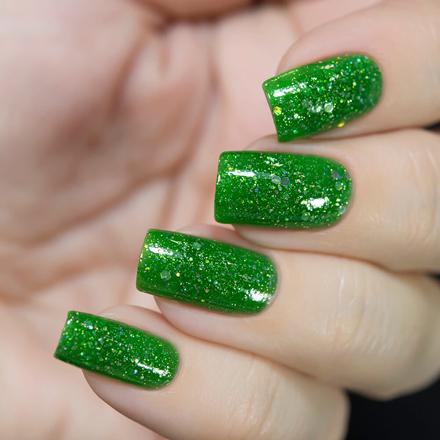Купить Masura, Лак для ногтей «Золотая коллекция», Клевер, 11 мл, Зеленый