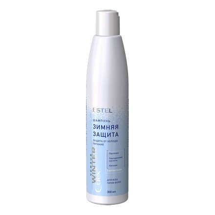 Estel, Шампунь Curex Versus Winter, защита и питание для волос, 300 млШампуни для волос<br>Шампунь деликатно очищает кожу головы, питает и увлажняет волосы, восстанавливая гидробаланс ломких и тонких волос.<br><br>Объем мл: 300.00