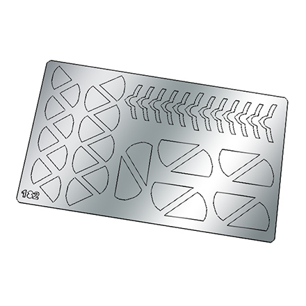 Купить Freedecor, Металлизированные наклейки №182, серебро