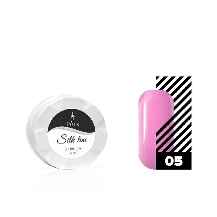 Купить POLE, Гель-краска Silk line №05, розовая, Розовый