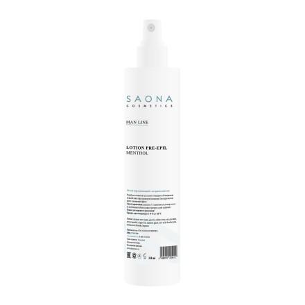 Saona Cosmetics, Лосьон очищающий с ментолом, 350 млСредства до депиляции<br>Средство очищает и обезжиривает кожу, полностью подготавливая ее к процедуре депиляции.