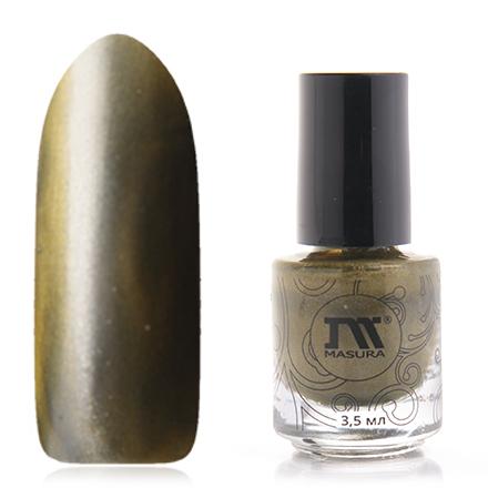 Купить Masura, Лак для ногтей №904-111М, Золотой авантюрин, Зеленый