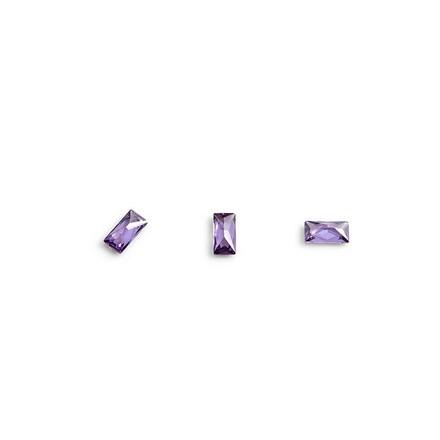 TNL, Кристаллы «Багет» №4, фиолетовые, 10 шт.3D украшения<br>Кристаллы для объемной инкрустации ногтей. В упаковке 10 штук.