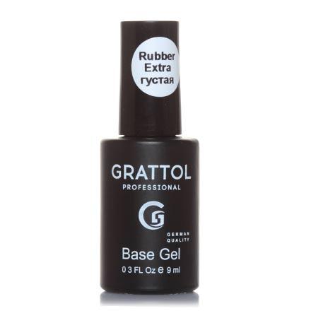 Grattol, База Экстрагустая, Extra Rubber Base, 9 мл grattol топ rubber top gel 9 мл