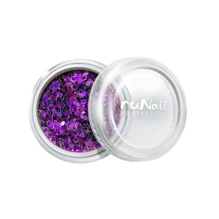 ruNail, дизайн для ногтей: конфетти (сиреневый)