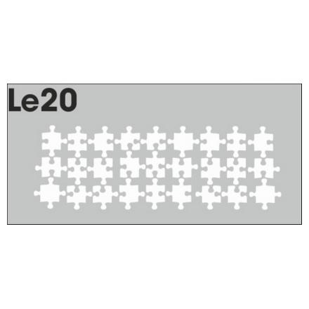 Airnails, Трафареты LE20Трафареты для маникюра<br>Набор многоразовых клеевых трафаретов для аэрографии на ногтях из высокоэластичной пленки. В упаковке 3 шт.<br>