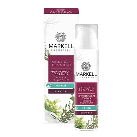 Markell, Крем-комфорт для лица Everyday «Морские водоросли», ночной, 50 млКремы для лица<br>Нежный крем предназначен для полноценного ночного ухода за лицом. Позволяет надолго сохранить свежесть и молодость кожи.<br>