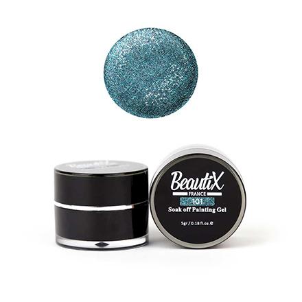 Beautix, Глиттер Painting Gel №101Гель для дизайна<br>Гель для дизайна (5 г). Мелкозернистый голубой.