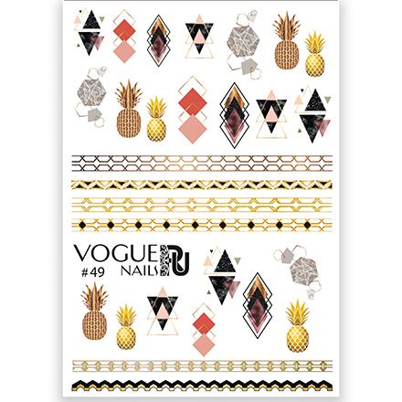 Vogue Nails, 3D-слайдер №49Слайдер-дизайн<br>Слайдер для создания дизайна на ногтях.