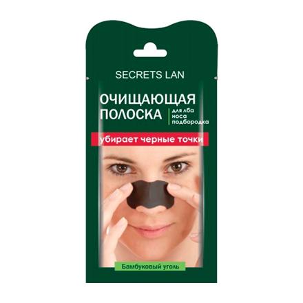 Купить Секреты Лан, Очищающая полоска «Бамбуковый уголь», 1 шт.