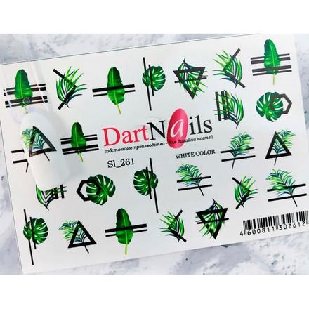 Купить DartNails, Слайдер-дизайн Art-Fashion «Листья. Геометрия» №261