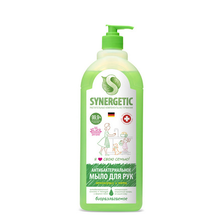 Купить Synergetic, Жидкое мыло «Лемонграсс и мята», 1000 л