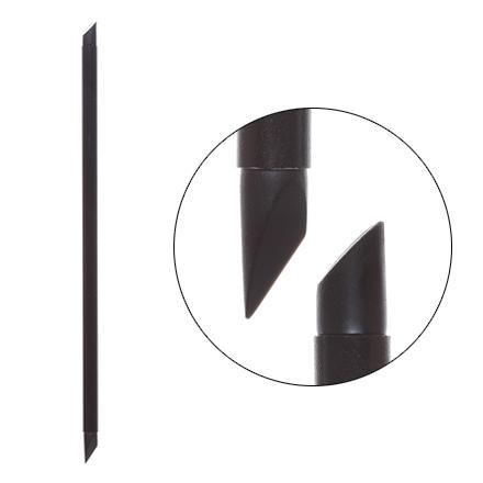Irisk, Кисть силиконовая с тонкой ручкой Nail Sculptor, скошенный овал/скошенное перо, чёрная