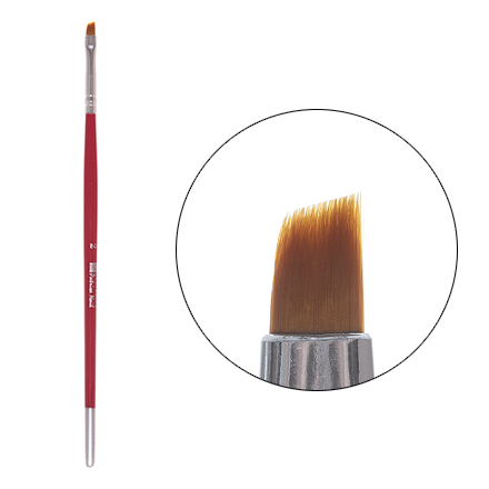 Patrisa nail, Кисточка для геля и китайской росписи, скошенная №2Кисти для дизайна<br>Скошенная кисть для китайской росписи и моделирования ногтей гелем.