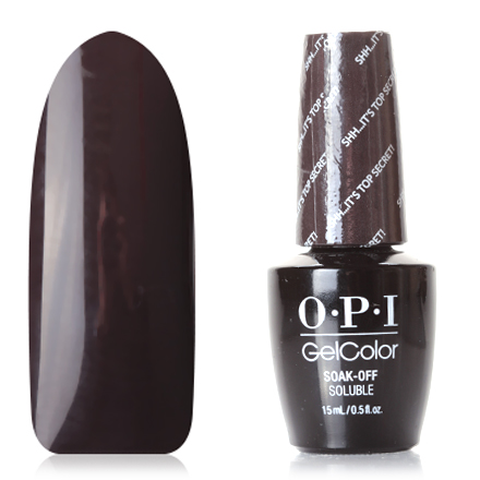 OPI GelColor, Washington, Гель-лак Shh...Its Top Secret