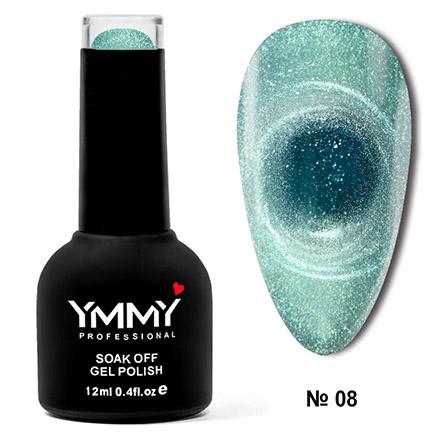 Купить YMMY Professional, Гель-лак Cat Ice №008, Зеленый
