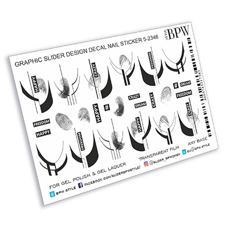 Купить BPW.Style, Слайдер-дизайн «Графический с лунками и надписями», №5-2346