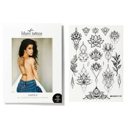 Miami Tattoos, Переводные тату Lotus by SashaTattooing Studio flash tattoos sheebani authentic metallic temporary tattoos