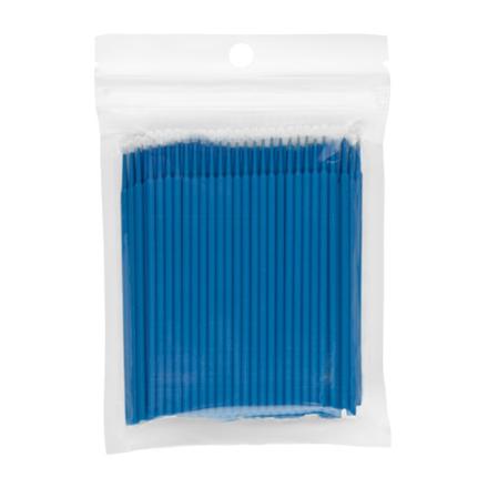 IRISK, Микрощеточки в пакете, L, синие, 100 шт.Инструменты и кисти<br>Микрощеточки используются в процессе снятия и наращивания искусственных ресниц, биозавивки и ламинирования натуральных ресниц. Длина: 10 см.