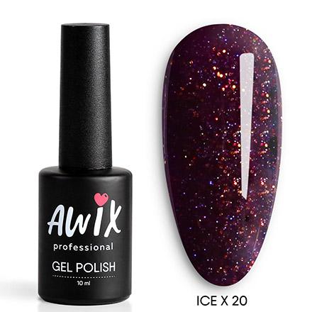Купить AWIX Professional, Гель-лак Ice X №020, Фиолетовый