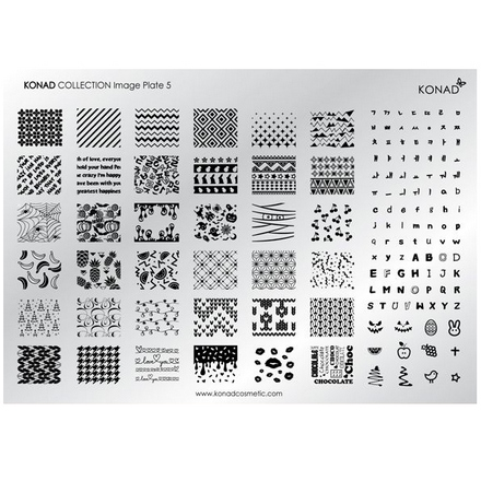 Konad, Пластина для стемпинга Collection Image Plate 05