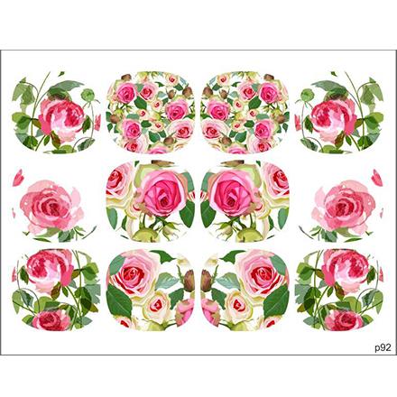 BPW.Style, Слайдер-дизайн «Цветы» №p92, для педикюра